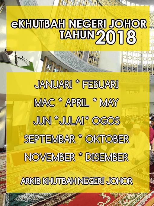 Khutbah Negeri Johor 2018