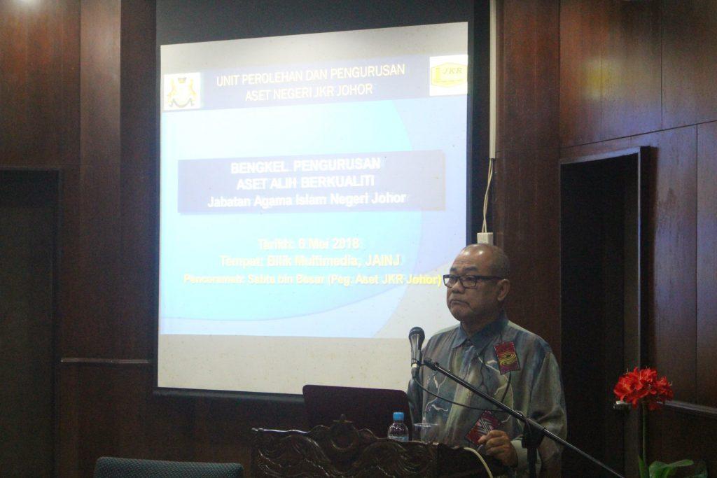 Bengkel Pengurusan Aset Alih Kerajaan Berkualiti bagi Pegawai dan Kakitangan Jabatan Agama Islama Negeri Johor tahun 2018