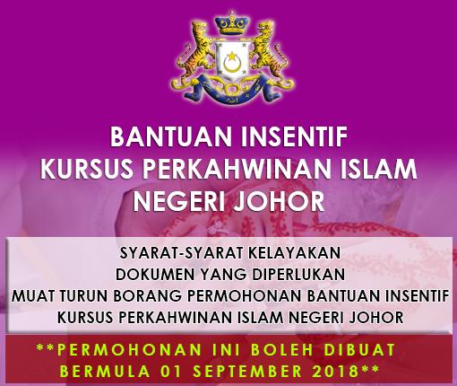 Bantuan Intensif Kursus Perkahwinan Islam Negeri Johor