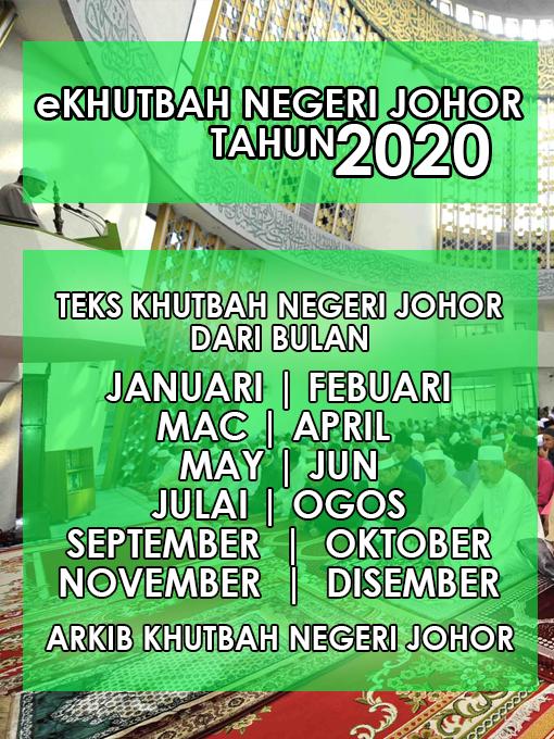 Khutbah Negeri Johor 2020