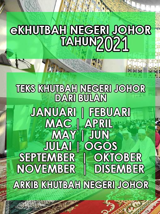 Khutbah Negeri Johor 2021