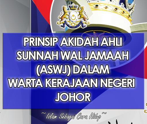 Prinsip Ahli Sunnah Wal Jamaah       [ ASWJ ]