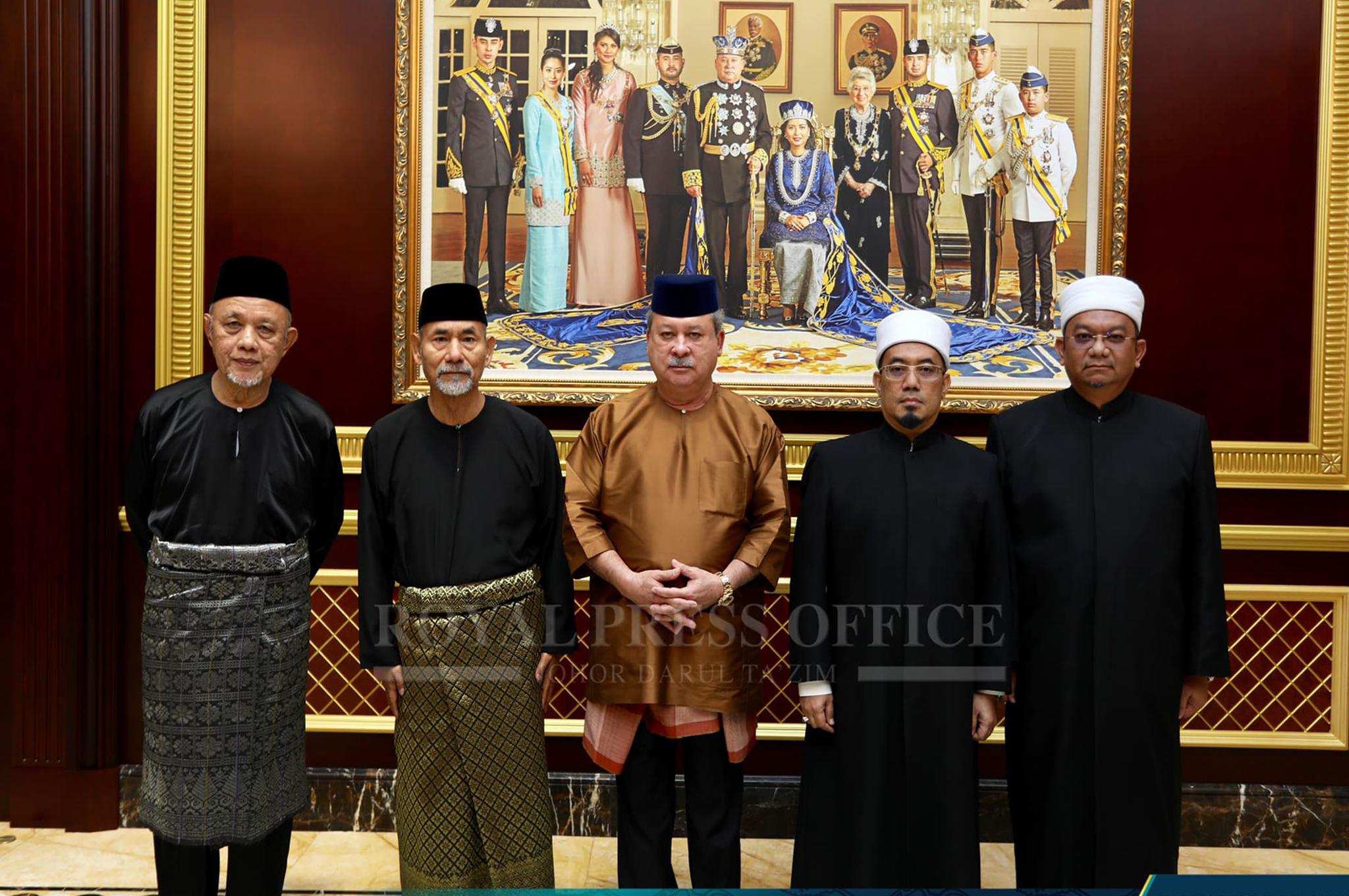 Dato' Haji Yahya Ahmad sebagai Mufti Johor dan Haji Ahmad Faisal Mohamed sebagai Timbalan Mufti Johor yang baharu pada 13 November 2018