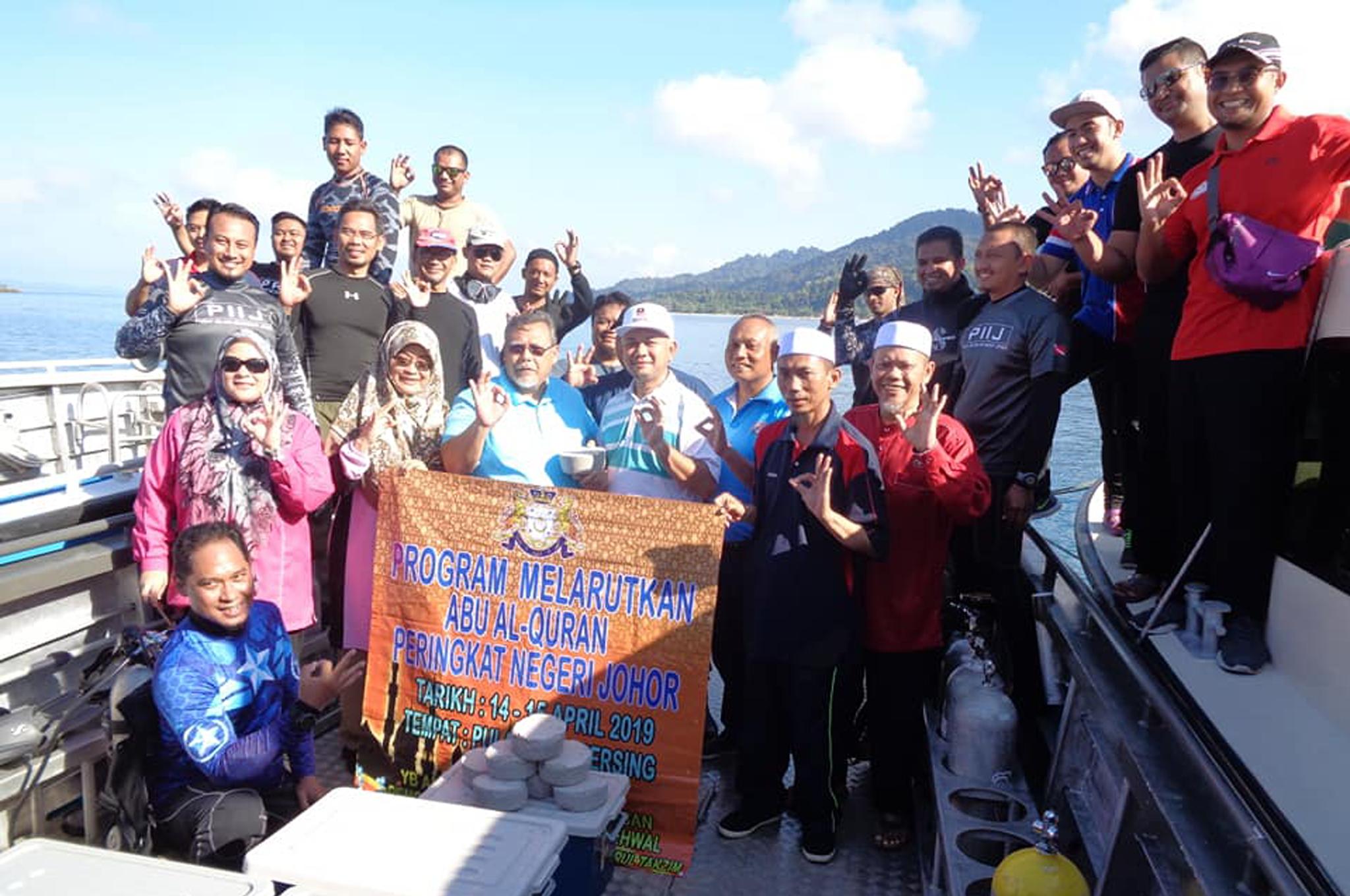 Program Melarutkan Abu Al-Quran di Pulau Sibu Mersing Johor.